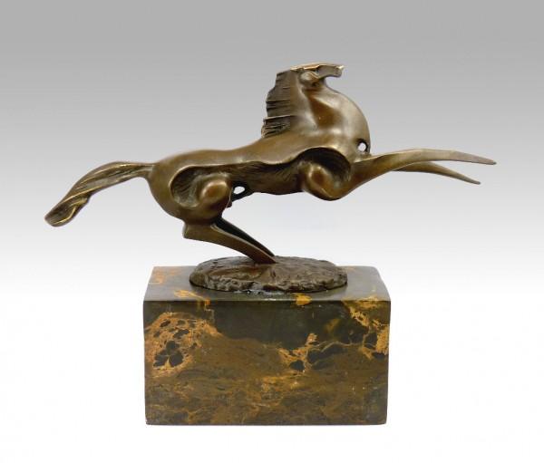 Bronze Sculpture - Dynamic Stallion - signed Milo