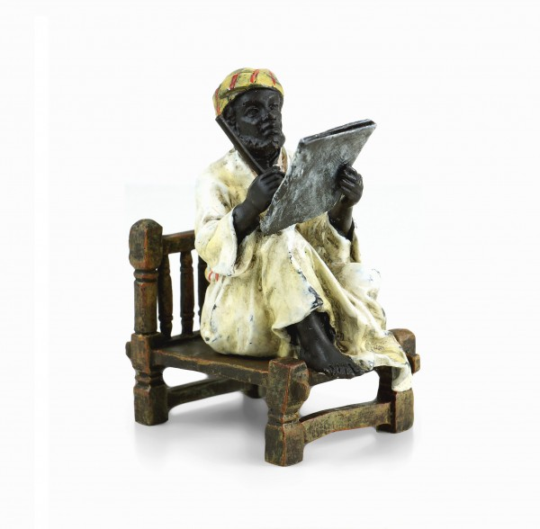 Vienna Bronze - Arabian Scholar - Two-Piece - Arab Figurine for Sale