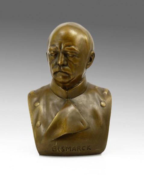 Otto von Bismarck - bronze bust signed - statue Military