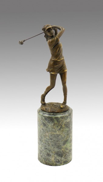 Cup / Sports Trophy Golf Player, signed Milo