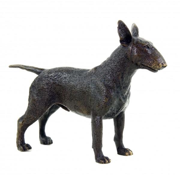 Animal Figurine - Bull Terrier - Dog Statue - Milo - Bronze Miniature