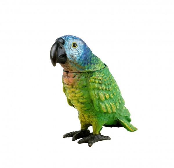 Hand Painted Parrot - Vienna Bronze Match Stand - Bird Figurine