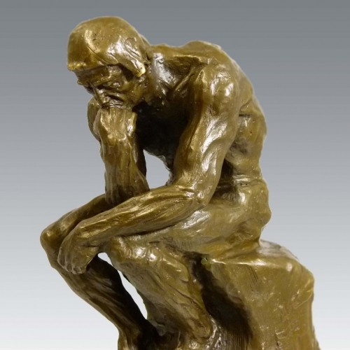 Famous bronze sculpture - The Thinker - signed Auguste Rodin