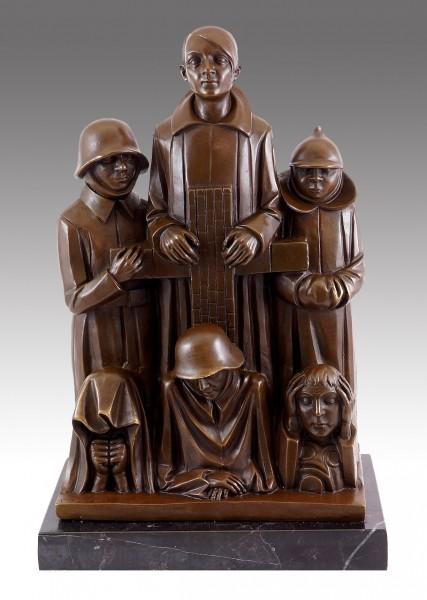Bronze Figure - Memorial (1928/29) - Signed Ernst Barlach