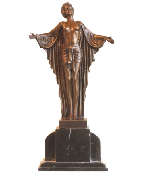 Art Deco Bronze nude Dancer from Chiparus on Marblebase