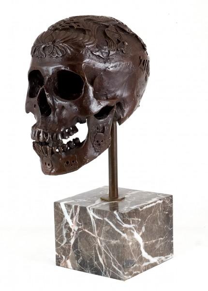Contemporary Art - Bronze Ritual Skull - Stevens signed