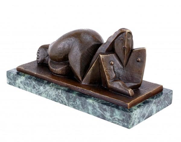 Cubistic Nude Sculpture - Sign. Lipchitz - Cubistic Bronze