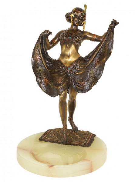 Vienna Bronze Figurine - Female Oriental Dancer - Bergmann Seal