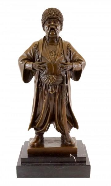 Russian Cossack - Bronze Figure - Eugene Lanceray - Real Bronze