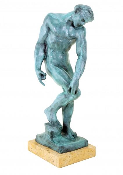 Modern Art male Bronze - Adam - signed Auguste Rodin