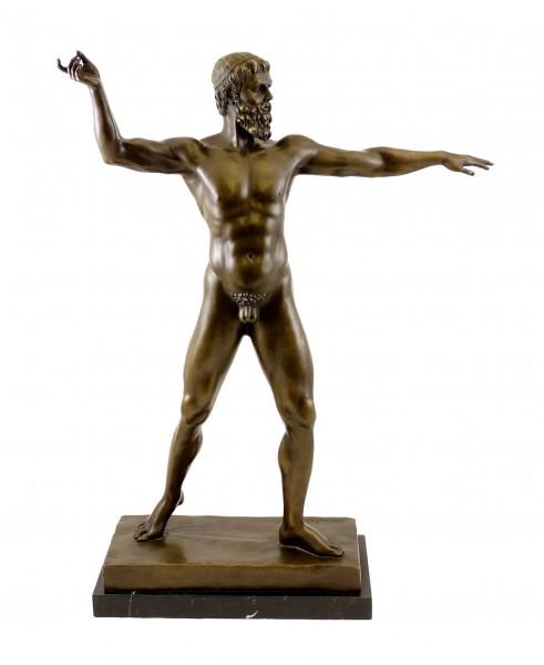 Mythology Bronze Sculpture - Zeus - signed B. Thorvaldsen