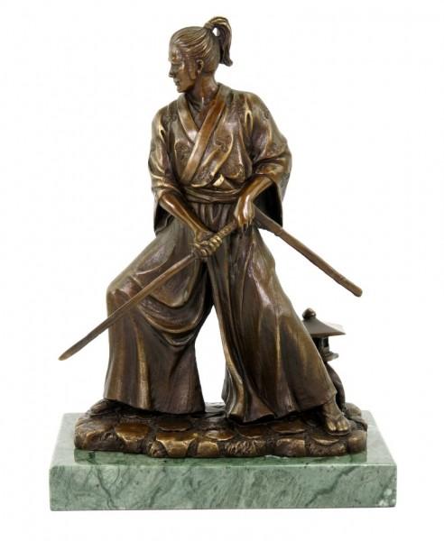 Samurai with Sword - Limited Bronze Statue by Milo