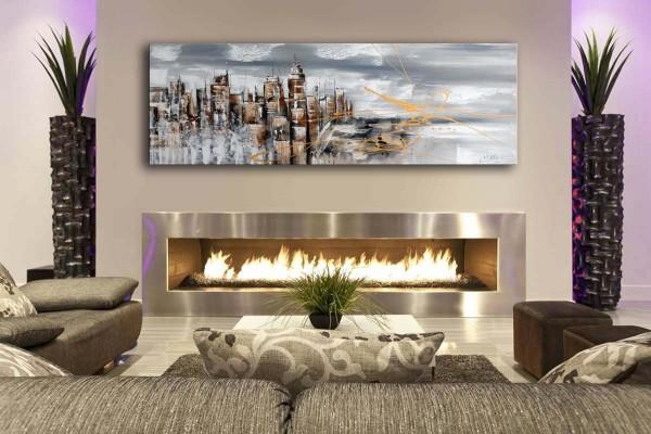 Acrylic painting - Skyline of Manhattan II / New York - M. Klein