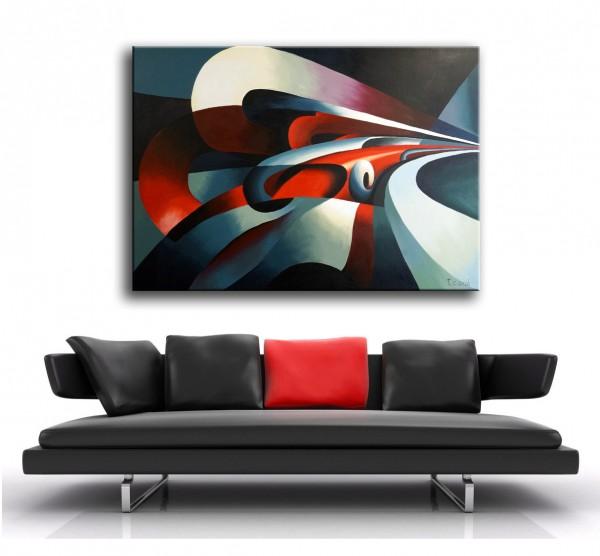 Oil painting - Le forze della curva (1930) - Tullio Crali