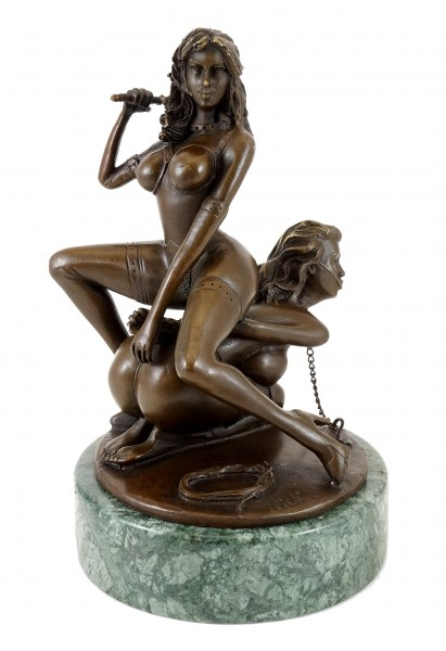 Erotic Bronze Figure - Bondage Couple - sign. - M. Nick