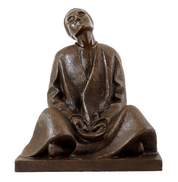Bronze figure - Blind Beggar (1906) - sign. Ernst Barlach