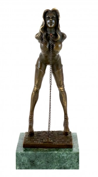 Erotic Bronze Figurine - Bondage Girl Marina - M. Nick