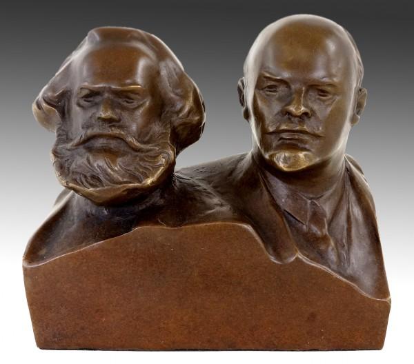 Bronze Bust - Marx and Lenin - Bronze Figurine