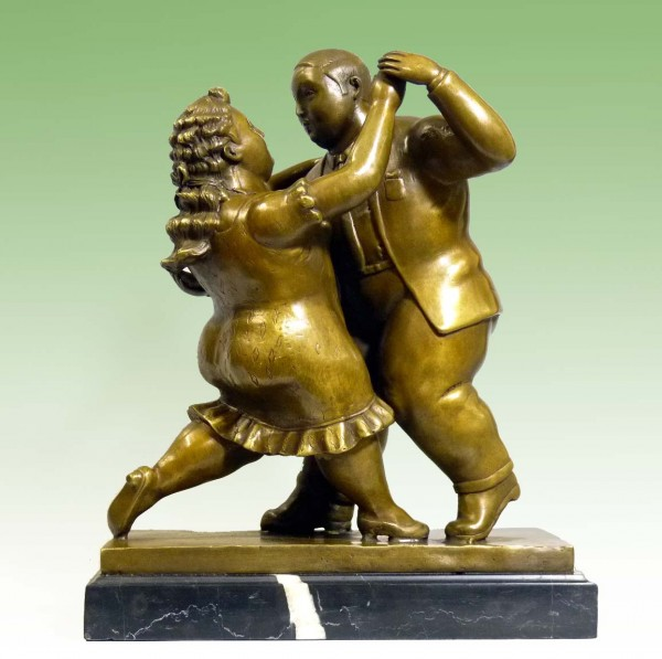 Modern Art sculpture - Dancing Couple - signed Fernando Botero
