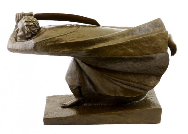 Bronze Sculpture - The Avenger (1914), sign. Ernst Barlach