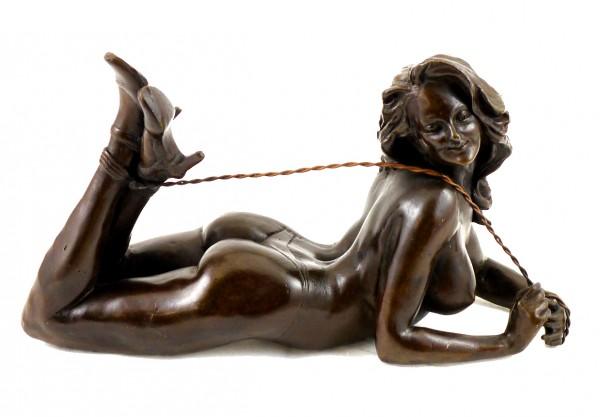 Erotic Bronze Figurine - Bondage Girl Lulu