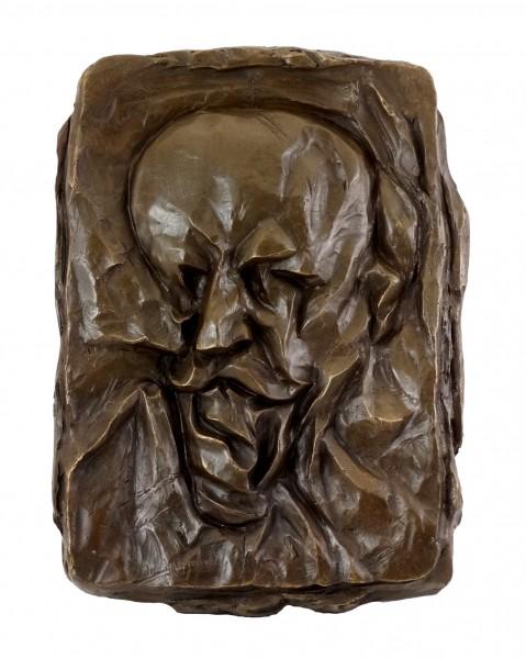 Bronze Relief - Portrait of the Father (1912) - Otto Gutfreund
