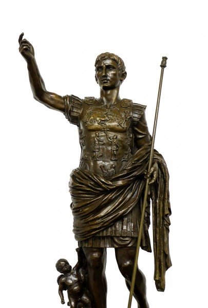 Mythology Bronze Figure - Julius Caesar, signed Augustus