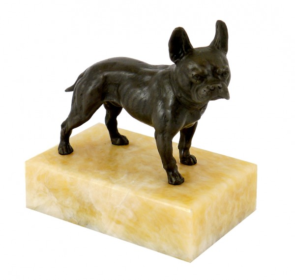 Bully on Yellow Marble - Animal Figure/ Vienna Bronze, Bergmann