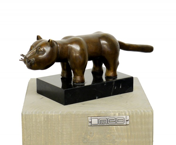 Modern Art Animal Bronze - El Gato, signed F. Botero