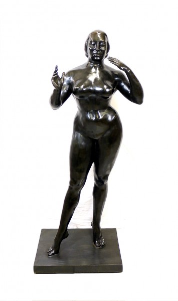 Modern Art sculpture - Standing Woman - after Gaston Lachaise