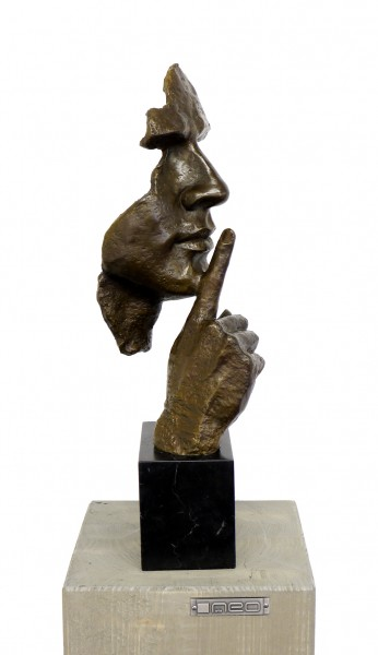 Silence - Modern Bronze Sculpture - Homage to S. Dali, signed