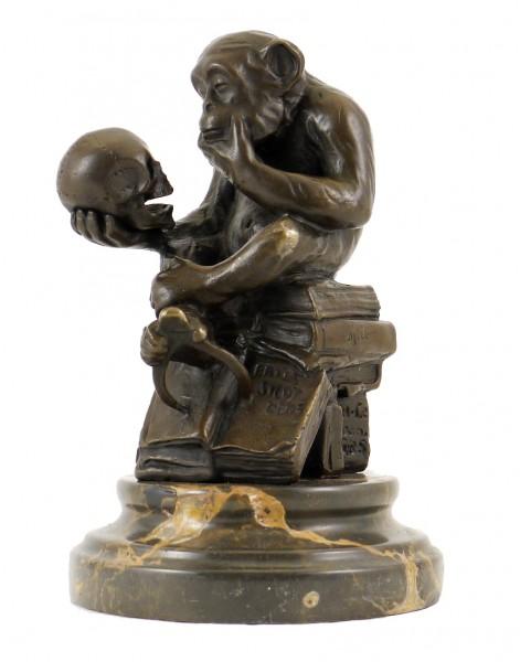 Bronze Statue - Ape with Skull/Philosophizing Monkey, Rheinhold