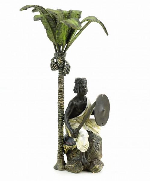Vienna Bronze - Arabian Warrior Under Palm Tree - Stamped