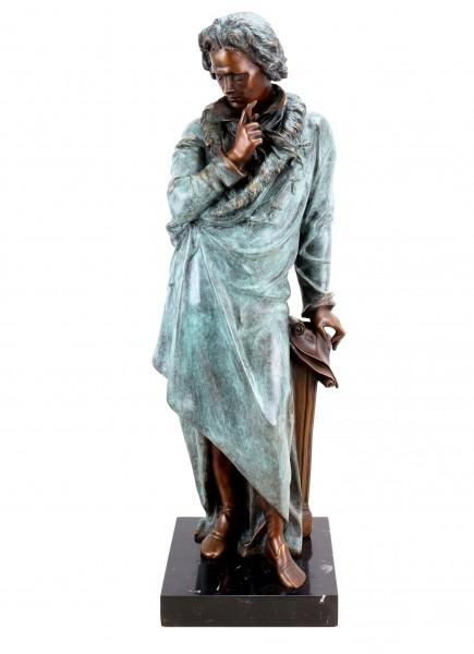 Opulent Bronze Statue - Ludwig van Beethoven - Signed Teupheme