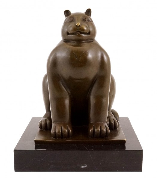 Fernando Botero - Fat Cat - Bronze Sculpture - signed