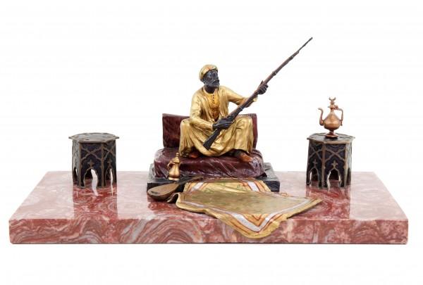 Viennese Bronze Arab Figurine - Carpet Bronze - Bergmann Stamp