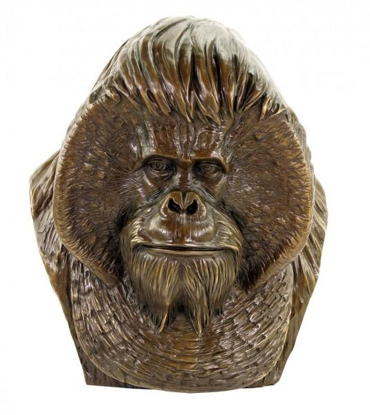 Borneo Orangutan Bust - Large Monkey Head - Animal Figurine - Milo