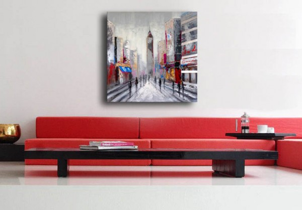 Oil Painting - Empire State Building in New York - Martin Klein