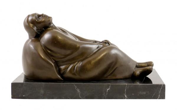 Modern Bronze Figure - Dreaming Woman - 1912, signed E. Barlach