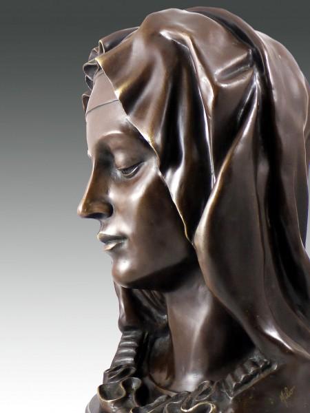 Michelangelo - Madonna Della Pieta - bronze sculpture bust