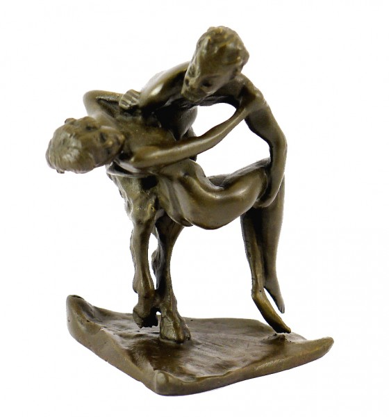 Vienna Bronze - Satyr abducts a Virgin - with Bergmann Stamp