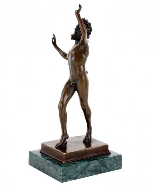 Fauno Danzante from Pompeji - Bronze Dancing Faun - Sign. Milo