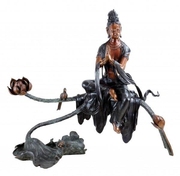 White Tara - Bronze Buddha Statue - Yoga Zen Sculpture - Sign. Milo