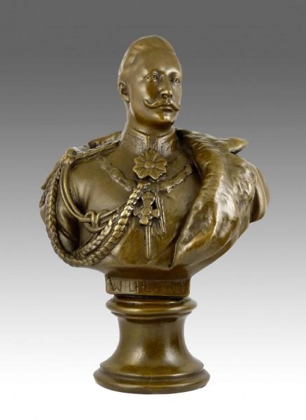 William II. - German Emperor Bronze bust Statue signed