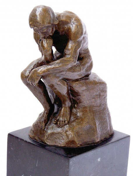 Modern Art Bronze - The Thinker - signed Auguste Rodin on marble
