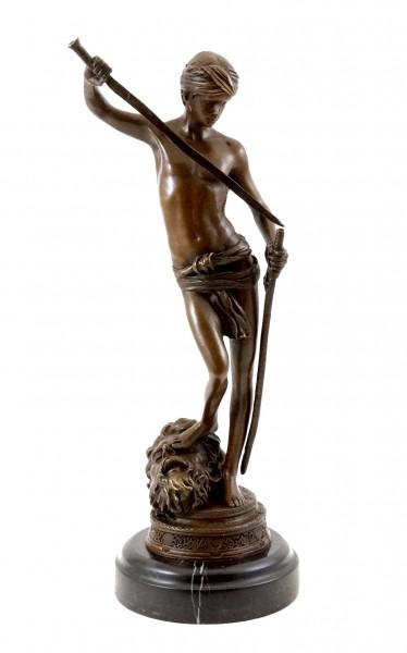Bronze statue - David after the fight - sign. Antonin Mercié