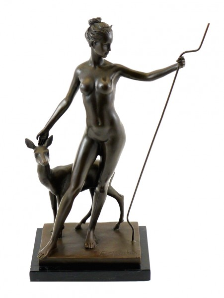 Bronze Sculpture by Edward McCartan - Diana and Doe - signed