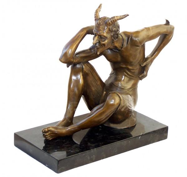 Erotic Bronze lustful and lascivious Devil - signed Milo