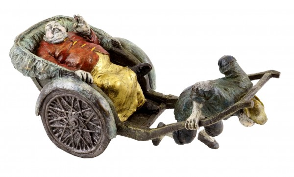 The Chinese Coachman - Hand-painted Bronze Figure - Milo