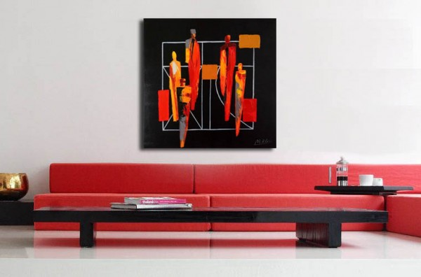 Abstract Acrylic Painting - In Company - Martin Klein